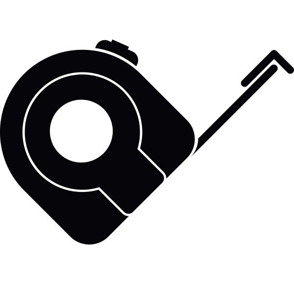 roulette construction tool icon simple