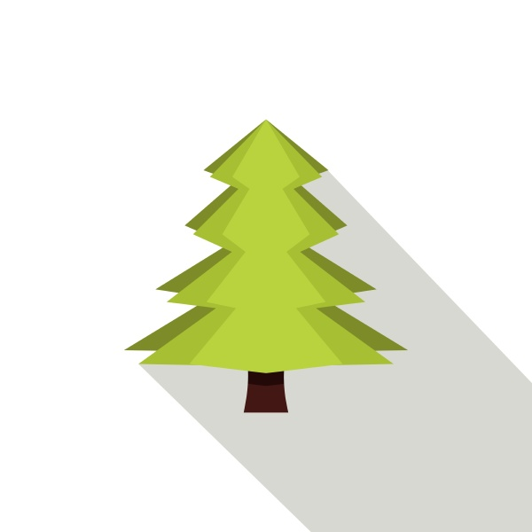 canadian fir icon flat style