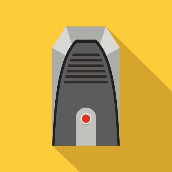 modern heater icon flat style