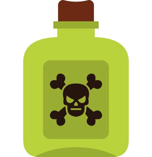 poison icon flat style