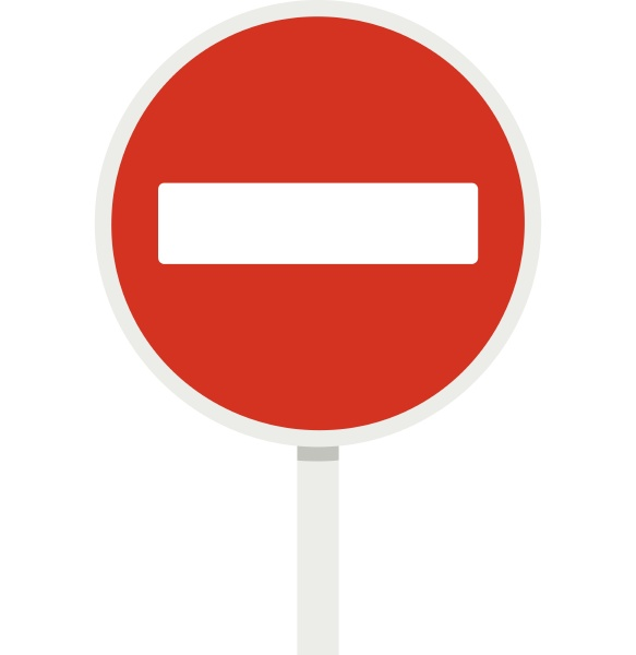 no entry traffic sign icon