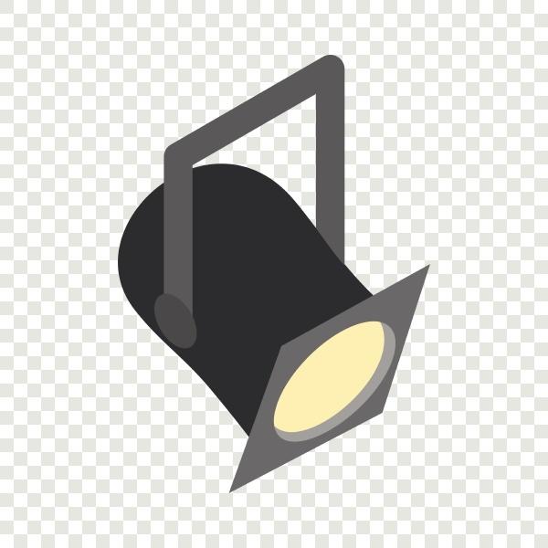 theater spotlight isometric icon