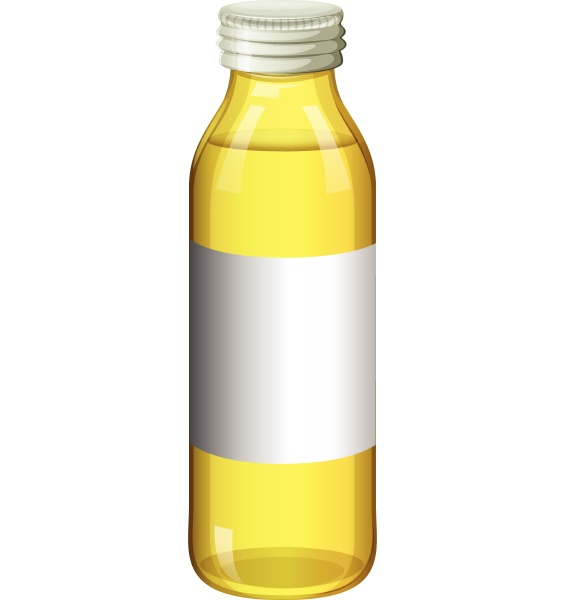 yellow color in glass bottle