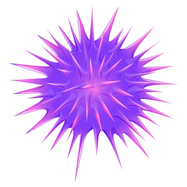 purple ball with thorns