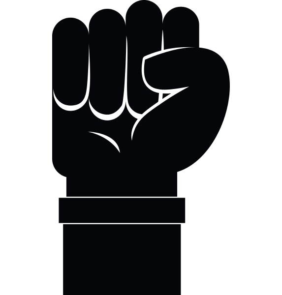 fist icon simple style