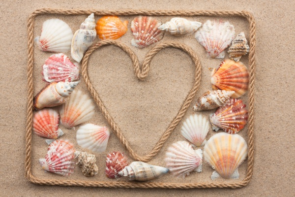 symbolic heart made from rope and