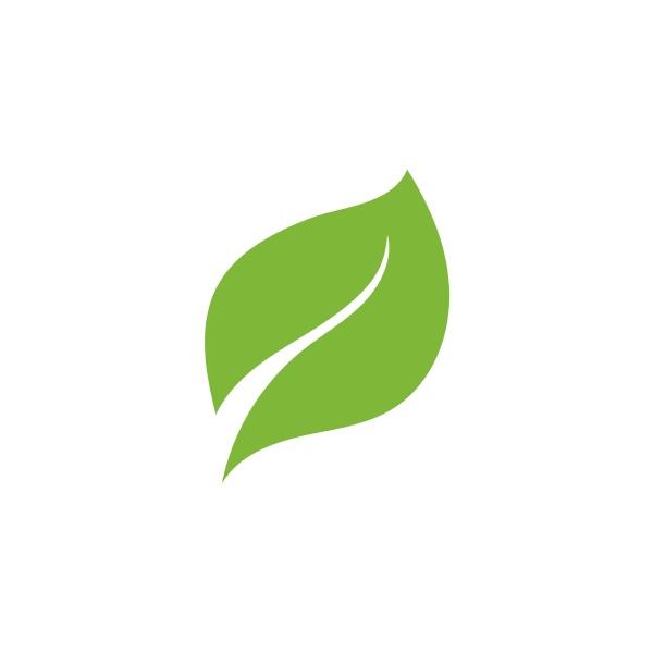 leaf logo green ecology nature element