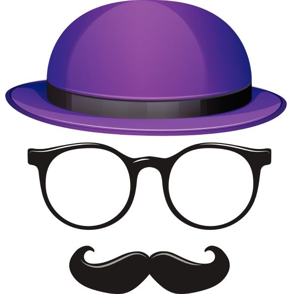 male fashion with glasses and mustache
