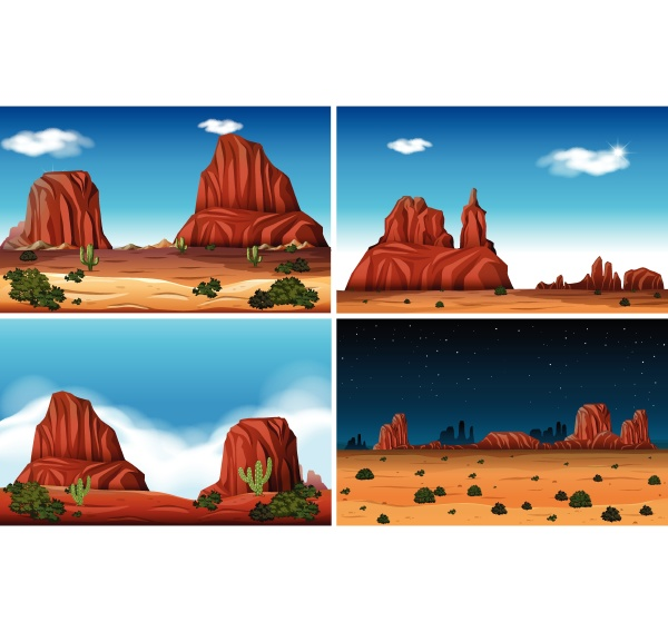 rock mountain and desert scene