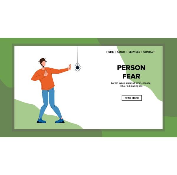 person fear poisonous dangerous spider vector