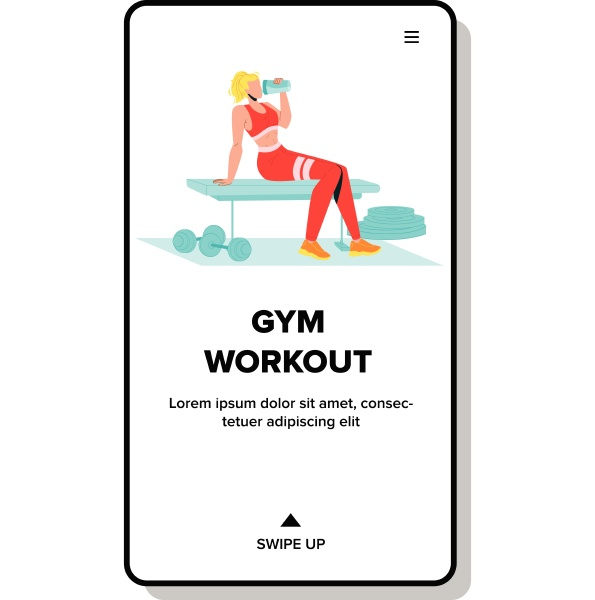 gym workout with fit sportive equipment