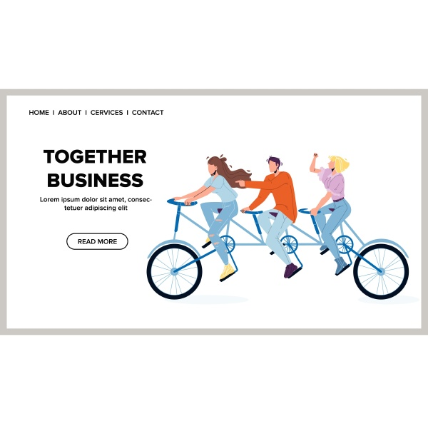 together business and team partnership vector