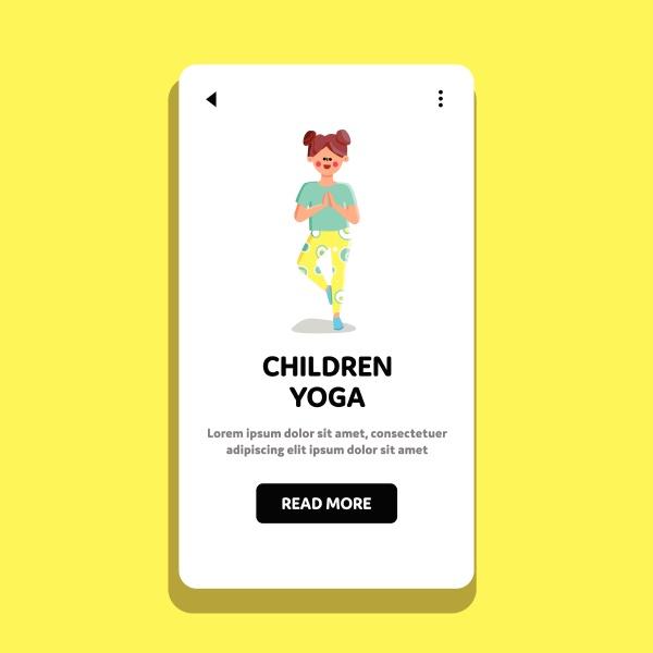 children yoga doing preteen girl in