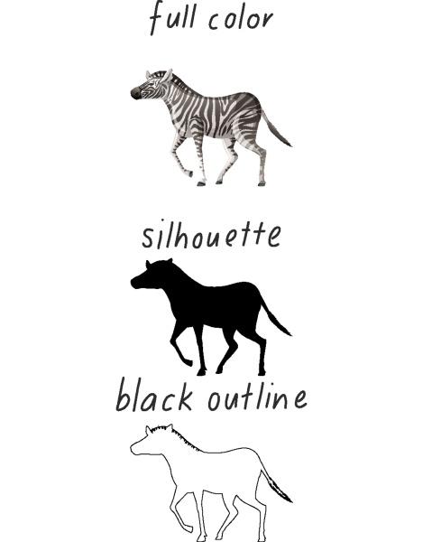 set, of, zebra, in, color, , silhouette - 30331208