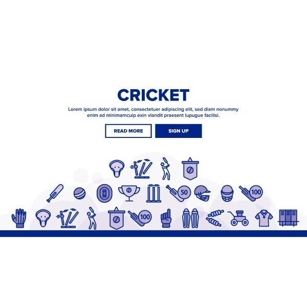cricket landing header vector