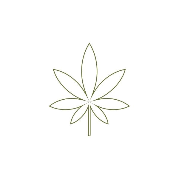 cannabis leaf health nature logo