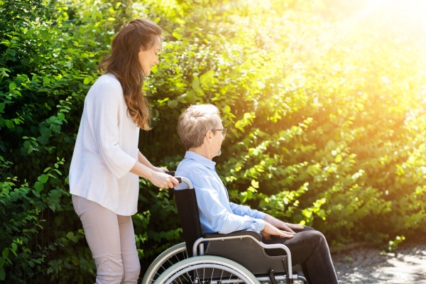 elderly senior patient care outside