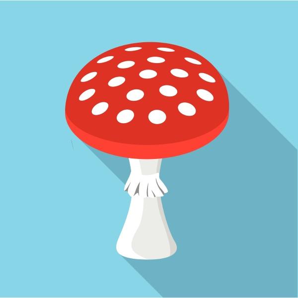 amanita muscaria poisonous mushroom icon