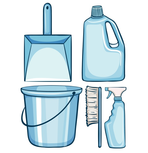 cleaning set in blue color