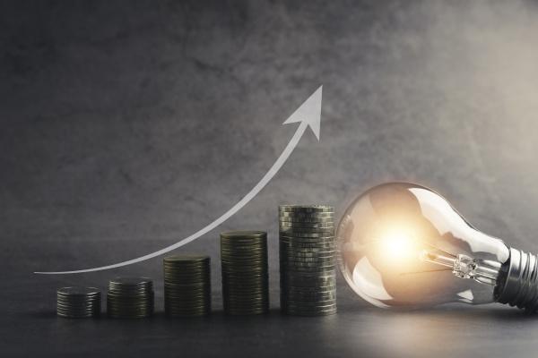 a light bulb with money coin