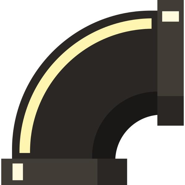 sewage pipe icon flat style