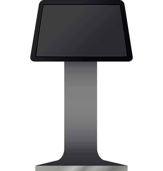 digital touchscreen terminal mockup