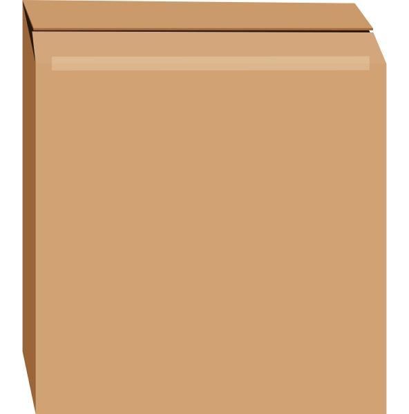 cardboard box mockup realistic style