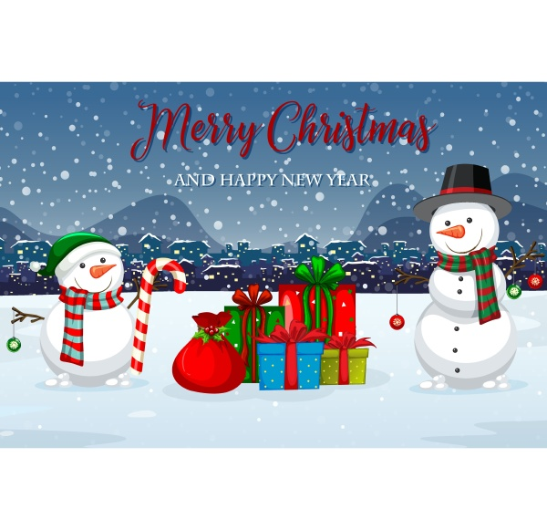 merry christmas winter template