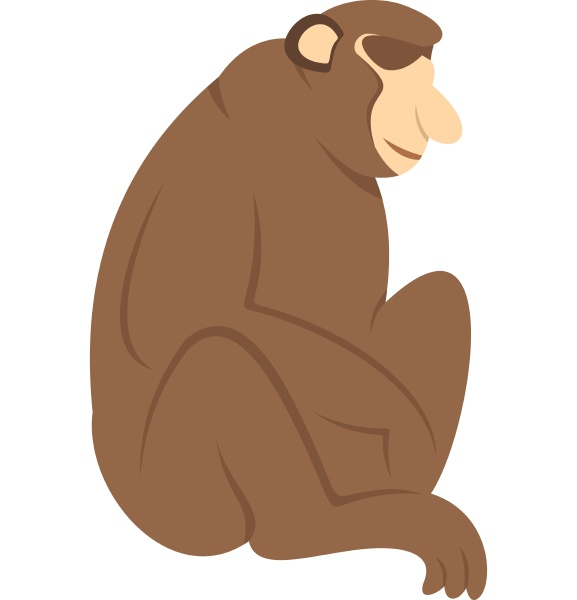 orangutan monkey icon isolated