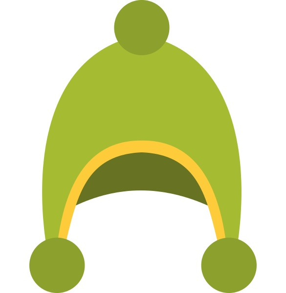 warm hat icon isolated