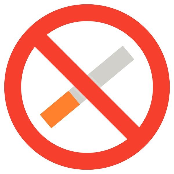 no smoking icon isolated