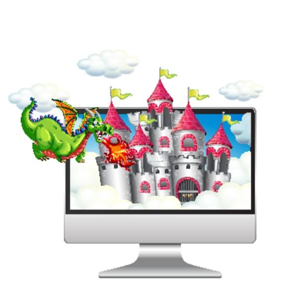 fairy scene on computer desktop background