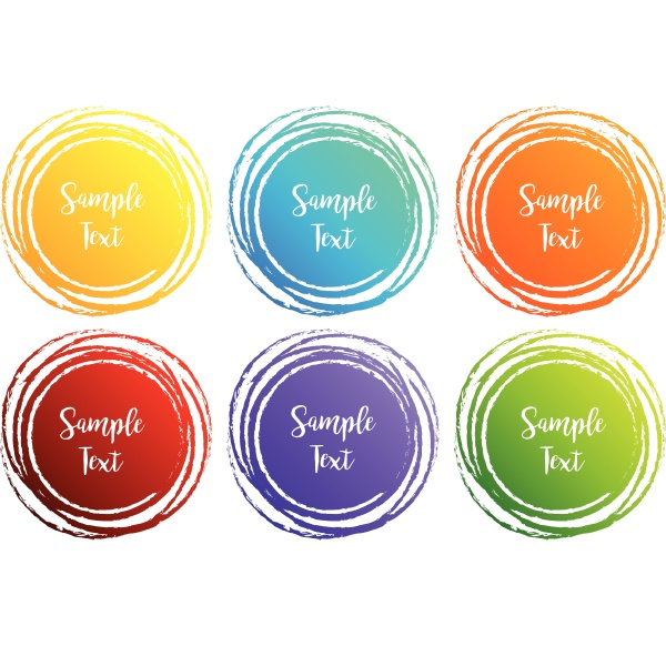 label designs with round shapes in