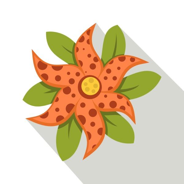 brindle flower icon flat style