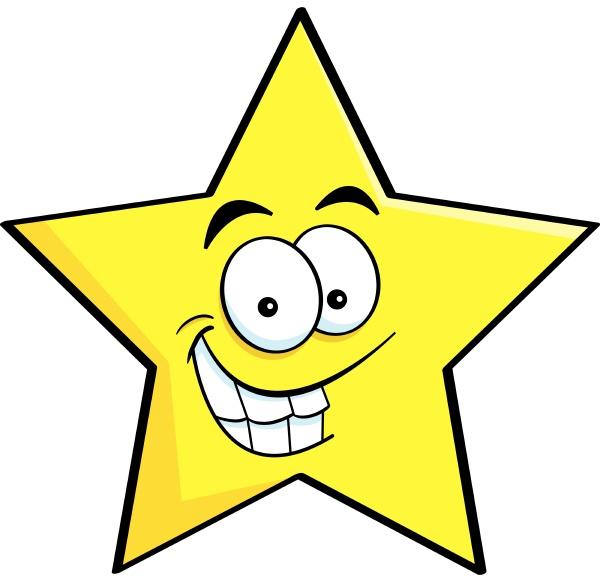 cartoon illustration of a smiling star