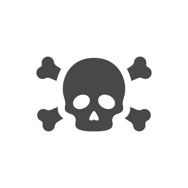 skeleton head and crossbones vector icon