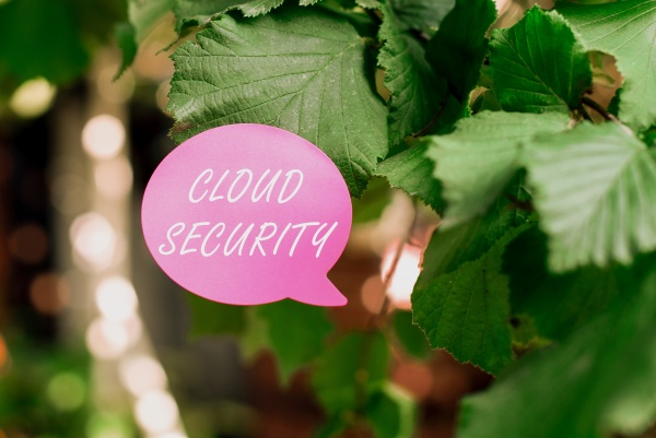 sign displaying cloud security business