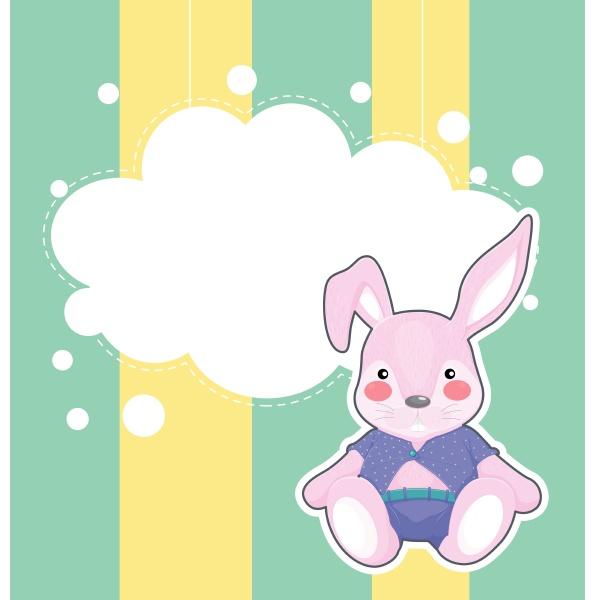 a stationery with a sad bunny