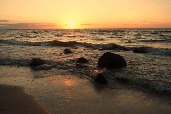 baltic beach in the evening light