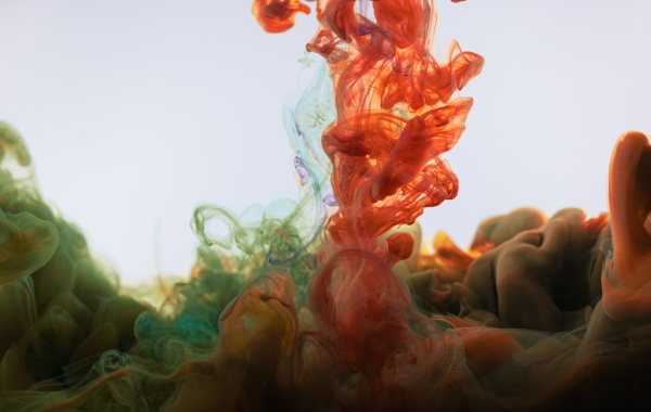 liquid splash dissolve color