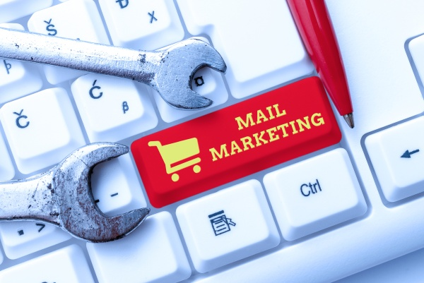 hand writing sign mail marketing business