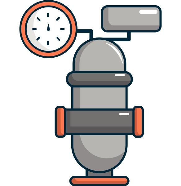 oil industry equipment icon cartoon