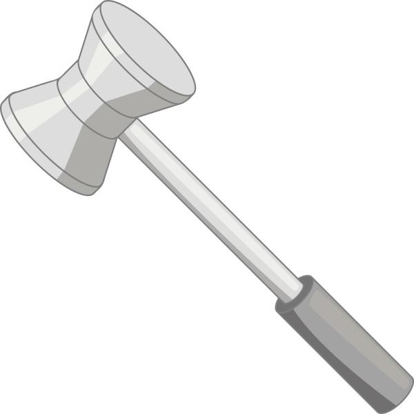 medical reflex hammer icon monochrome