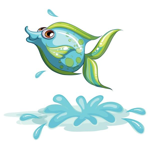a cute fish at the sea