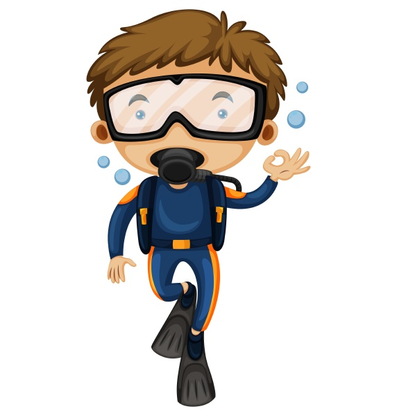 man doing scuba diving