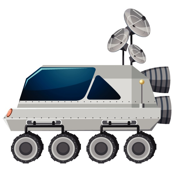 isolated lunar roving vehicle on white
