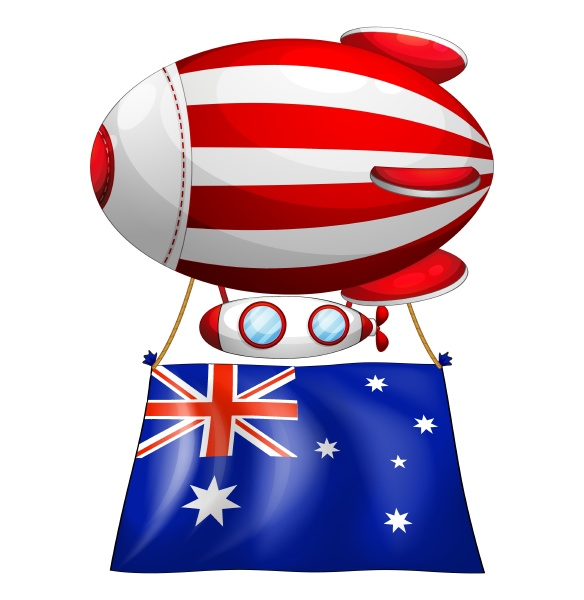 the flag of australia attached to