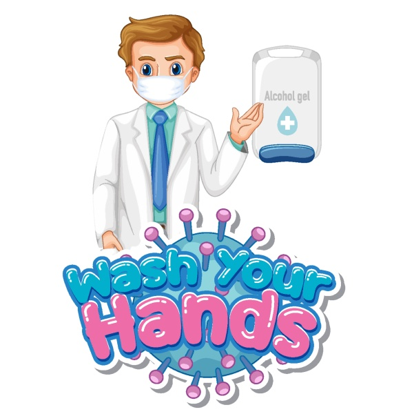 wash your hands poster design with
