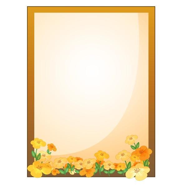 a framed empty signage with flowers