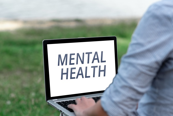 sign displaying mental health business idea